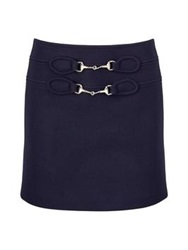 Paul And Joe Kronos Wool Mini Skirt Navy