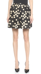 Giambattista Valli Pleated Skirt Black White