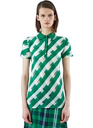 Stella Mccartney Transparent Checked Polo Shirt Green