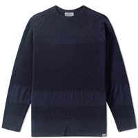 Norse Projects Ville Summer Bubble Crew Knit Blue