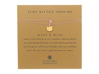 Dogeared Just Kitten Around Make A Wish Thread Necklace Gold Dipped Rose Necklace Beige