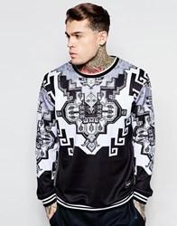Jaded London Sweatshirt With Tapestry Print Black
