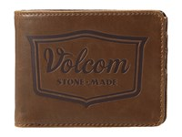 Volcom Corps Wallet Bear Brown Bill Fold Wallet