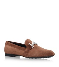 Tod's Maxi Doppia Suede Loafers Female Brown