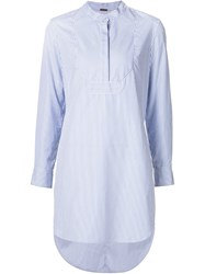 Adam By Adam Lippes Adam Lippes Striped Tunic Top Blue