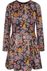 Alice By Temperley Lou Lou Floral Print Satin Mini Dress Red
