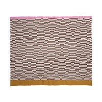 Orla Kiely Stripe Flower Jacquard Throw Nutmeg