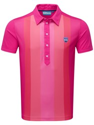 Bunker Mentality Cmax Vertical Stripe Polo Pink