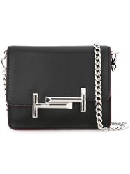 Tod's Logo Plaque Crossbody Bag Black