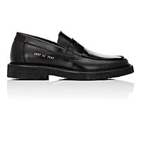 Common Projects Men's Crepe Sole Penny Loafers Black Blue Black Blue