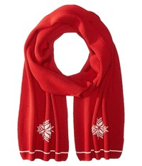 Dale Of Norway Geilo Scarf Raspberry Off White Scarves