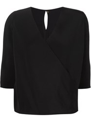 Peter Cohen Wrap Blouse Black