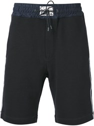 Marc Jacobs Contrasted Waistband Track Shorts Black