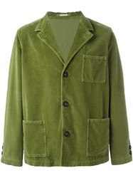 Massimo Alba Buttoned Jacket Green