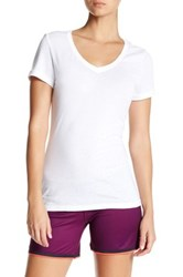 Reebok Solid V Neck Tee White