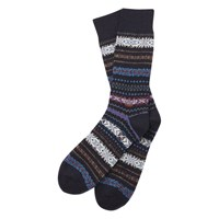 Barbour Boyd Fair Isle Socks Navy