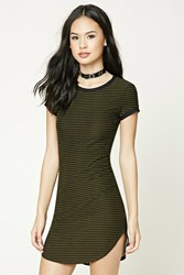 Forever 21 Striped Mini T Shirt Dress
