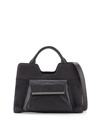 Christian Lacroix Bolaria Leather Satchel Black