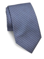Theory Striped Silk Tie Blue