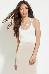 Forever 21 Caged Back Cropped Cami Cream