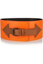Tomas Maier Two Tone Leather Belt Orange