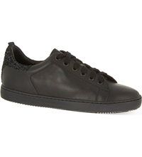 Maje Glitter Trainers Black