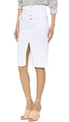 7 For All Mankind Utility Pocket Skirt White