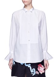 Temperley London 'Bounty Dinner' Bib Front Shirt White