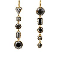 Renee Lewis Women's Black Diamond Drop Earrings No Color