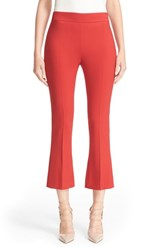 Max Mara Women's 'Omega' Stretch Wool Crepe Crop Pants Red