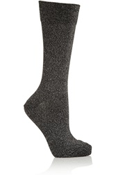 Isabel Marant Yiley Metallic Stretch Jersey Socks