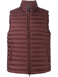Woolrich Padded Gilet Red