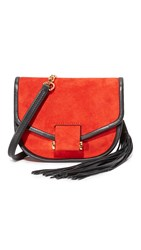 Edition10 Suede Cross Body Bag Fiery Red
