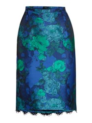 Dickins And Jones Jacquard And Lace Pencil Skirt Multi Coloured