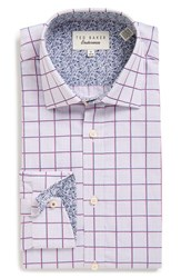 Ted Baker Men's Big And Tall London 'Redsing' Trim Fit Check Dress Shirt