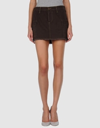 Joie Mini Skirts Dark Brown