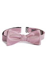 Men's Calibrate 'Union Square' Silk Bow Tie Pink