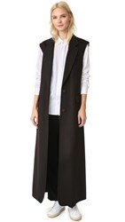 Dkny Long Double Breasted Vest Black