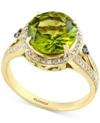 Effy Olivia By Peridot 3 5 8 Ct. T.W. And Diamond 1 4 Ct. T.W. Ring In 14K Gold Green