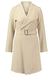 Miss Selfridge Trenchcoat Taupe Beige