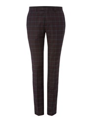 Label Lab Axl Flannel Check Skinny Suit Trouser Grey