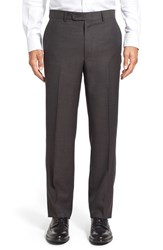 Linea Naturale Men's Big And Tall 'Tic Weave' Super 100S Wool Trousers Blue