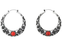 Mandf Western Southwest Engraved Hoop Earrings Silver Earring