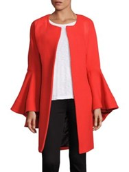 Milly Doubleface Virgin Wool Blend Coat Flame