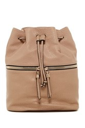 Urban Expressions Drawstring Backpack Beige