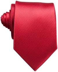 Perry Ellis Fineline Solid Tie Red