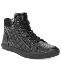 G By Guess Orily Quilted High Top Sneakers Women's Shoes Black