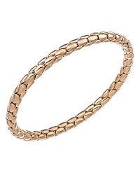 Chimento 18K Rose Gold Stretch Spring Collection Disc Rope Bracelet