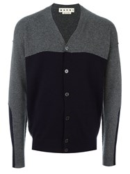 Marni Two Tone Cardigan Grey