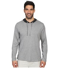Tommy Bahama Heather Cotton Modal Jersey Long Sleeve Hoodie Heather Grey Men's Sweatshirt Gray